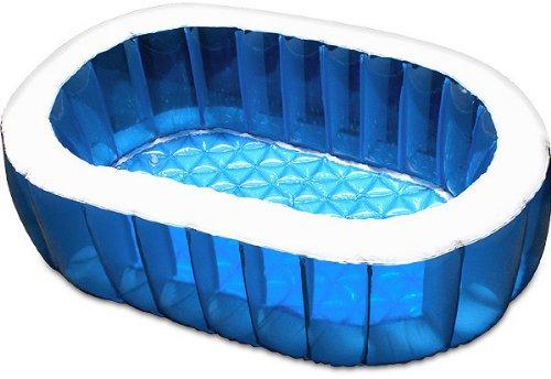FIELDOORビニールプールオーバルプール【ブルー】148cm×100cm家庭用プールジャンボプールベランダ