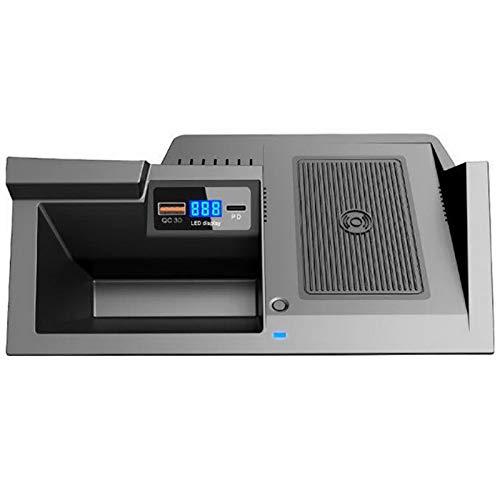 Fauge Cargador InaláMbrico de Coche para CX5 CX-5 2017-2021, Almohadilla de Carga USB para TeléFono con QC3.0 + Puerto PD, Carga RáPida, 15W + 18W + 18W