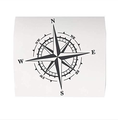 Windrose Aufkleber aus spezial Fahrzeugfolie Kompass ab 30 bis 80cm maritimer Sticker für Camper Bus 4x4 Wohnmobil Boot oder Wandtattoo