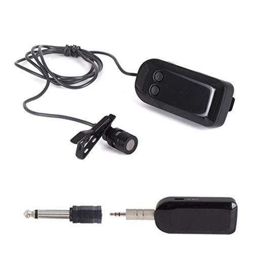 UOEIDOSB Auriculares con micrófono inalámbrico UHF de 2,4G, Amplificador de Voz de Rango de 40 M para actuaciones en Directo, enseñanza del Habla