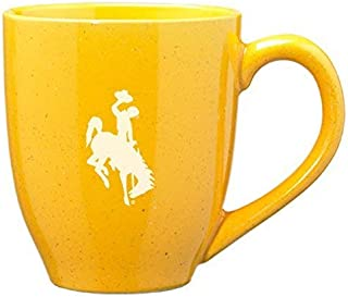 LXG, Inc. University of Wyoming - 16-Ounce Ceramic Coffee Mug - Gold