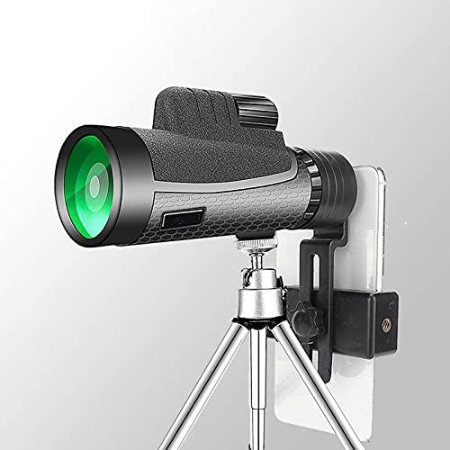 Telescopio Monoculares 12x50 Ocular Grande Telescopio De Visión Nocturna con Poca Luz De Alta Definición para Acampar, Viajar E Ideas para Regalos para Hombres