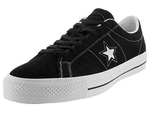Converse Lifestyle One Star Ox Suede - Scarpe da ginnastica unisex per bambini, (nero bianco), 44 EU