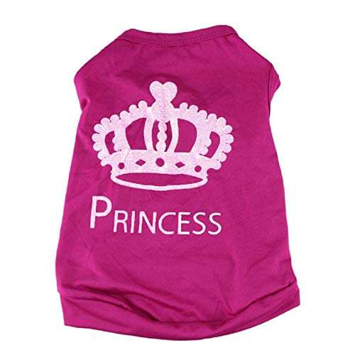 Farjing Clearance Puggy Costumes,Fashion Summer Pet Dog Cat Cute Princess T-Shirt Clothes Vest Coat (S,Red