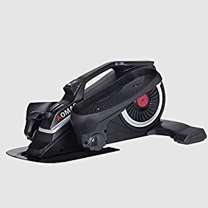 ZZTX Life HS - Zapatillas ovaladas con Mini Pedal Ovalado Paso a Paso Ovalado Debajo de la Mesa, diseño único, máquina para Caminar en el Espacio de Ejercicio silencioso, Negro