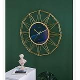 YXYOL Reloj de Pared Cielo Estrellado Creativo, Gran Silencio Simple Metal Reloj de Pared, Reloj de Pared de Estilo nórdico, Sala Cafe Hotel decoración de la Oficina, los 58CM