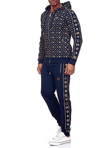 Redbridge Tuta da Uomo Felpa e Pantalone Set Sportivo in Cotone Blu M