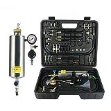 MRCARTOOL Kit de limpiador y probador de inyector de combustible para automóviles sin desmontaje, kit de herramientas de lavado para gasolina EFI acelerador de coches
