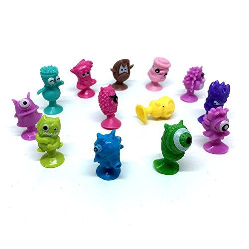 Runfon Enfants Enfant Cartoon Little Monsters Figurines Jouets Mini Ventouse Monster Sucker (10pcs)