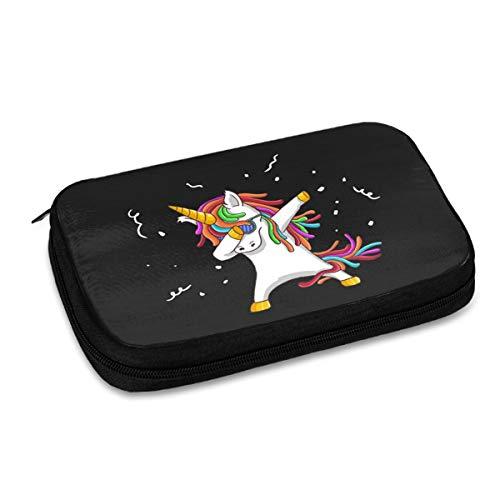 Bolsa de almacenamiento digital multifuncional portátil de patrón de danza fresco de unicornio, bolsa de accesorios de viaje portátil, bolsa de almacenamiento de cargador de cable de datos