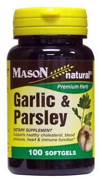 Mason Natural 5 ☆ popular Garlic and Parsley Supplement Softgels Dietary 1 Award-winning store -