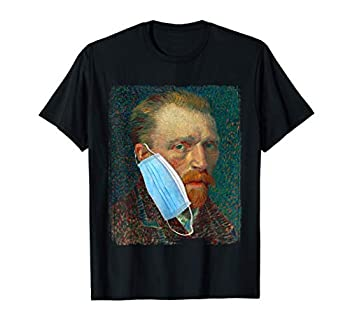 Funny Van Gogh Meme Wearing a Face Mask Social Distancing T-Shirt
