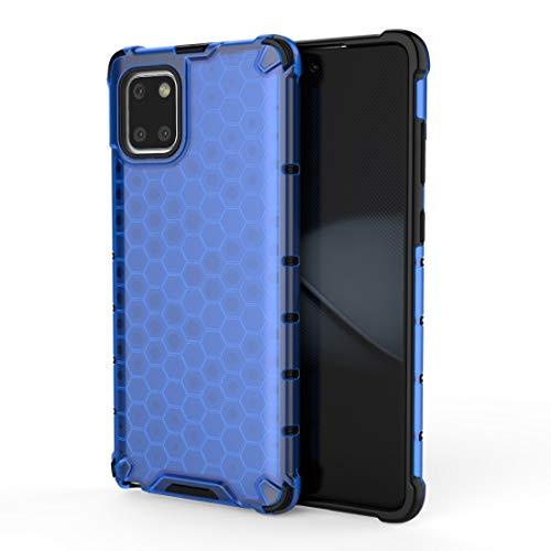 LENASH para Galaxy S10 Lite 2019 / A91 / M80S PC A Prueba de Golpes PC + Funda TPU (Azul) Funda para Phone (Color : Blue)