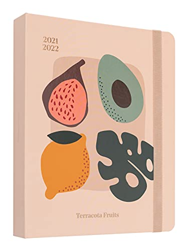 Agenda 2021 2022 Terracota Fruits. Agenda semana vista Edición premium, 17 meses by Kokonote