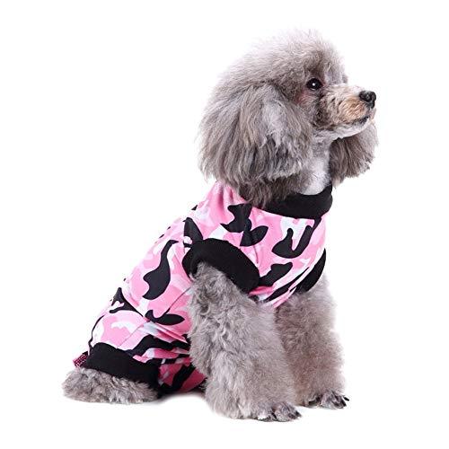FAMKIT Hunde-OP Rehabilitationsanzug OP Shirt postoperative Weste Bauch-Wundschutz nach Operationen Kleidung für Hunde und Katzen