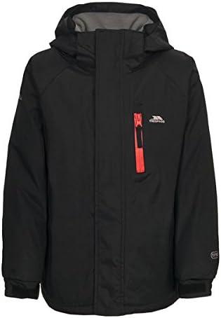Trespass Ainslie Kids School Hooded Rain Coat Boys Waterproof Padded Jacket