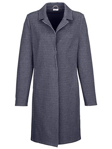 Alba Moda Damen Kurzmantel mit Reverskragen in Marineblau aus Baumwolle in modischer Doubleface Qualität