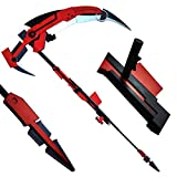 """MINGSHAO 70"""" Overall Foam RWBY Ruby Crescent Rose The High Velocity Sniper-Scythe Cosplay Prop 1:1 Scale Replica Anime"""