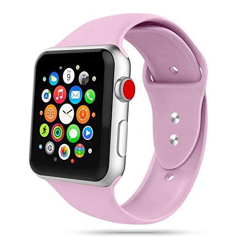 Tech-Protect Armbänder für Apple Watch 38mm & 40mm, Iconband Kompatibel mit iWatch Series SE/6/5/4/3/2, Sport Armband, Weiche Silikon Ersatz, Violett