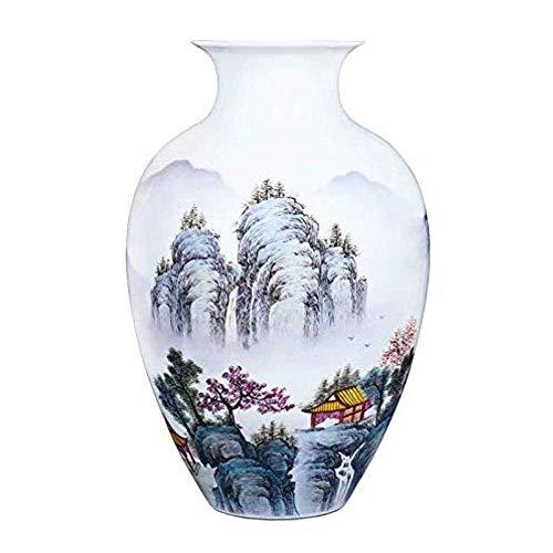 Jarrones para decoración Antiqu Vintage Maceta Maceta Florero de cerámica de estilo chino,...