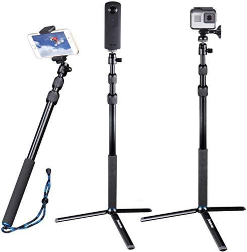 Smatree Selfie Stick mit Stativ für Gopro Hero Max,Gopro Hero 9,Gopro Hero 8, Hero 7/6/5/4/3/2/1/Session/Fusion, DJI OSMO Action/Kompaktkameras (1/4