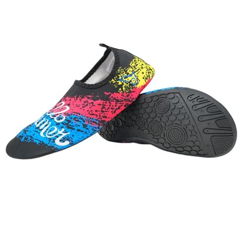 Escarpines Zapatos de Agua Surf Playa Calas Transpirables Secado Rápido y Antideslizante para Hombre y Mujer (Multicolor, Numeric_40)