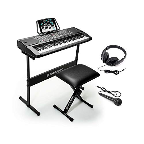 Great Price! Hamzer 61-Key Portable Electronic Keyboard Piano with Stand, Stool, Headphone. - HM2959...