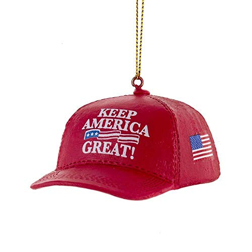 Kurt Adler MAGA Red Keep America Great Hat Trump Christmas Ornament
