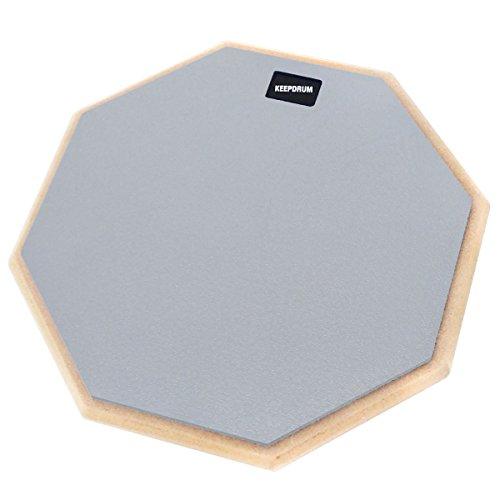 keepdrum DP-GY12 Practice Pad Grau Schlagzeug Übungspad 12 Zoll