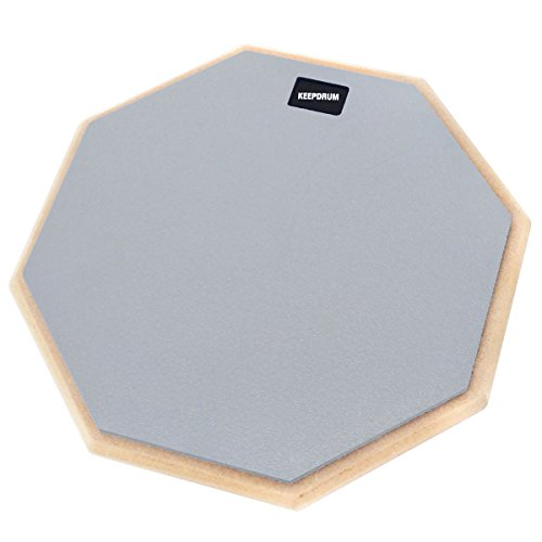 keepdrum DP-GY12 Drum Practice Pad Grau Übungspad 12 Zoll