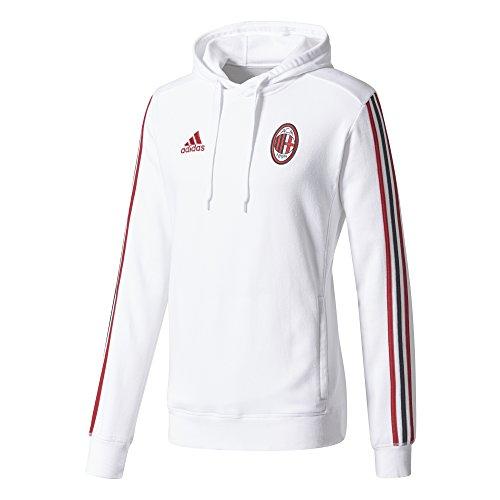adidas ACM Hoody Sudadera-Línea AC Milan, Hombre, Blanco/rojvic/Negro, 3XL