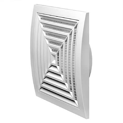 Ø 125mm Weiß Lüftungsgitter 190x190mm Abschlussgitter Insektenschutz ABS-Kunststoff Gitter