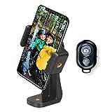 AFAITH Soporte para Teléfono Móvil Trípode Adaptador + Control Remoto inalámbrico, Palo de selfie Monópode Adaptador con Ajustable Abrazadera (Rotación de 360°) para iPhone/ Samsung Galaxy/ Huawei