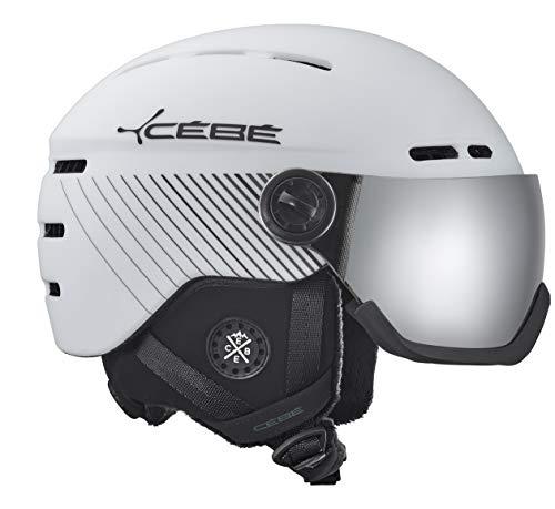Cébé Fireball Casco de Ski Matt White Adultos Unisex 59-61 cm