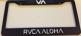 Stickysight.com Va RVCA Aloha Version - Fight Style - Automotive Black License Plate Frame - MMA Style