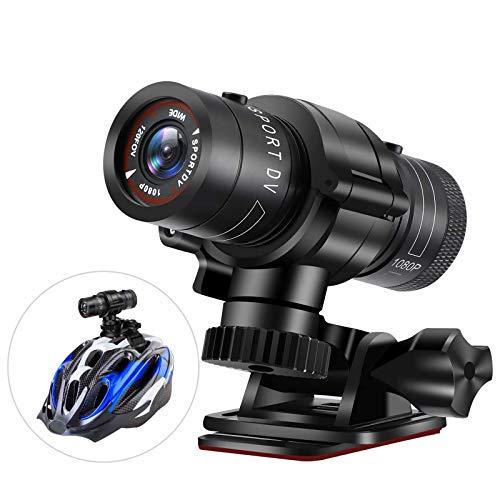 Cámara Casco Moto Bicicleta,Cámara Acción Deportiva HD 1080P,Videocámara DV Vídeo Motocicleta,Videograbador Impermeable Coche Bici,Mini Cámara Video DVR Acción,para Naturaleza Aire Libre