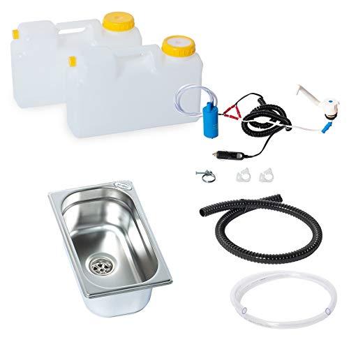 Wasseranlage Imbisswagen Verkaufsanhänger Campingküche 12v Bausatz Spüle 265x160x100 Novo Raumsparkanister (ad-ideen)