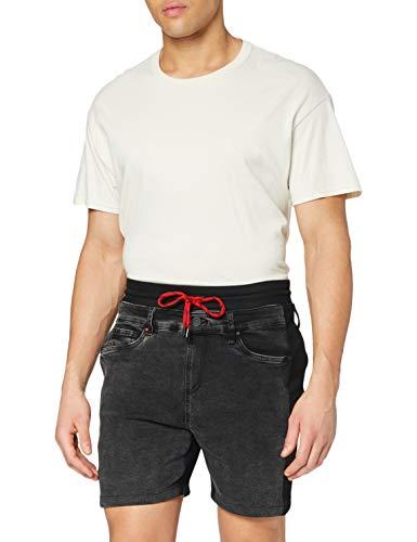 Desigual Denim_Peter Pantalones Cortos, Negro, 36 para Hombre