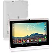 iRULU 7 Zoll Tablet Google Android 6.0 Quad Core 1024x600 Dual Kamera WI-Fi Bluetooth 1GB/8GB Play Store NetFilix Skype 3D Spiel Unterstützt Gms Zertifiziert mit Einem Jahr Garantie (Weiß)