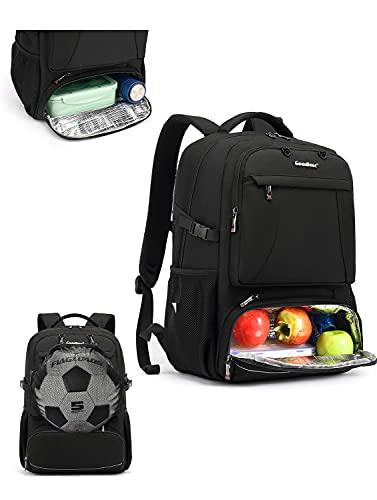 BRINCH バックパック 15.6インチPCバック ビジネスリュック リュックサック USB充電ポート イヤホンジャック付き 多機能 撥水加工 出張 通学通勤 スポーツ 登山 旅行 メンズ レディース ブラック