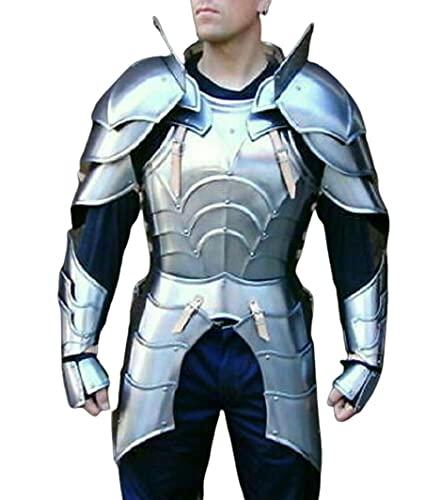 Medieval Lady Armor Breastplate Jacket Espalderas y Brazaletes Half Armour Suit Réplica