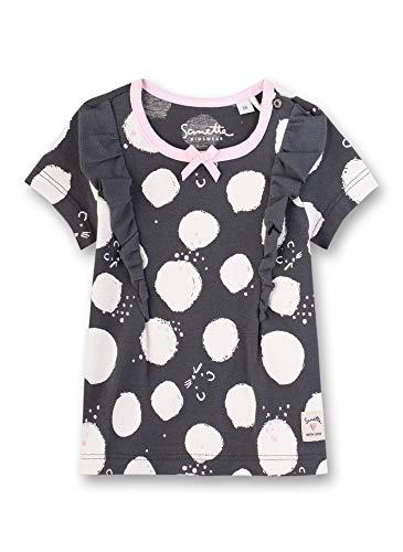 Sanetta Baby-Mädchen T-Shirt, Grau (Grau 1918), 92 (Herstellergröße: 092)