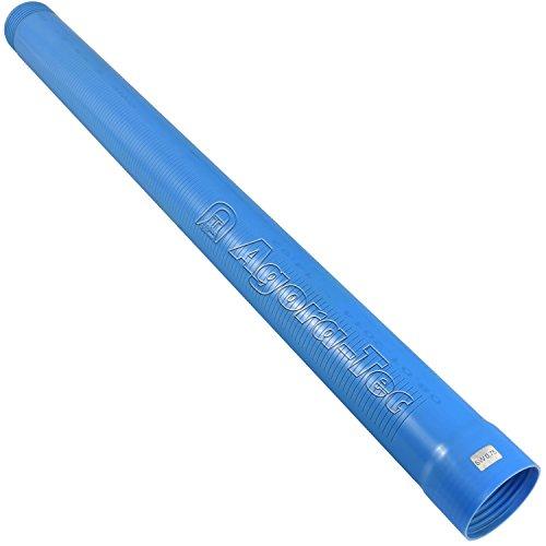 Agora-Tec Brunnenrohr (Filterrohr) 3 Zoll DN 80 blau 1 Meter (Schlitzweite: 0,75mm) für den Bau eines Tiefbrunnen