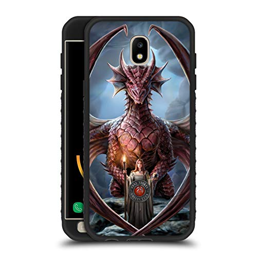 Head Case Designs Ufficiale Anne Stokes Guardiano Amicizia di Drago Cover Blindata Lite Nera Compatibile con Samsung Galaxy J5 (2017)