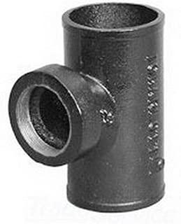 Charlotte NH 34 Black Cast Iron Tapped Sanitary Tee, 3