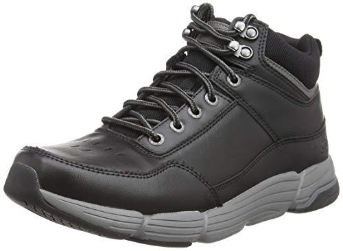 Skechers Metco-Boles, Botas Clasicas Hombre, Negro (BLK Black Leather), 43 EU