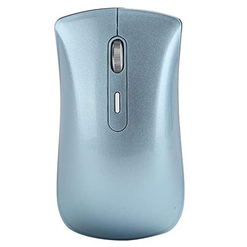 ワイヤレスBluetooth5.0マウス-オフィス/ゲーム用マウス-サイレントおよびマイクロモーションデザイン-最大1600DPIのインテリジェント調整-ノートブックデスクトップコンピューター用(青)