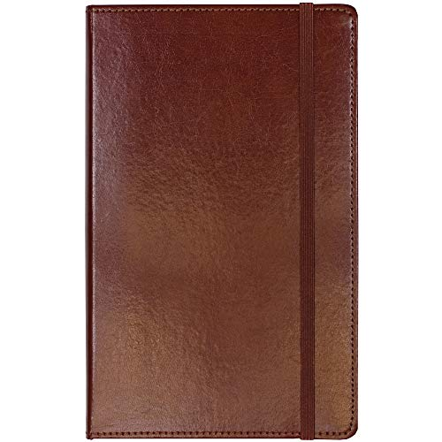 C.R. Gibson Brown Bonded Leather Journal, 5'' x 8.2''