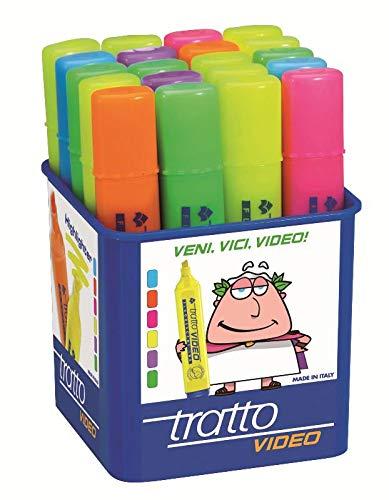 Tratto - Evidenziatore Video Colori Assortiti (Pacco da...