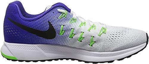 Nike Air Zoom Pegasus 33 - Zapatillas de running para hombre, color blanco (white / black-concord-elctrc grn), talla 42
